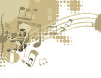 Musical Background. In Grunge Style. Check my portfolio for much more of this series as well as many more similar and other great vector items Stock Images