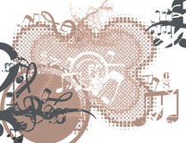Musical Background. In Grunge Style. Check my portfolio for much more of this series as well as many more similar and other great vector items Royalty Free Stock Photo