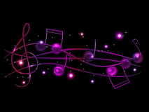 Musical background. Vector purple musical shiny background Royalty Free Stock Photography