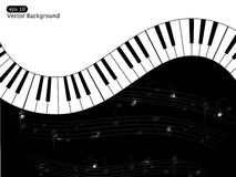 Musical background. Vector white and black musical background Stock Photos