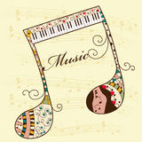 Musical background. Vector musical background with note Royalty Free Stock Photography