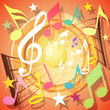Musical Background. A Colorful Musical Notes Background Royalty Free Stock Image