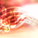 Musical background. Abstract musical background with blurred lights Royalty Free Stock Photos