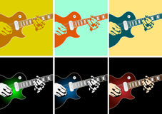 Musical background. With guitar player.Vector illustration Stock Photo