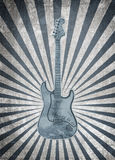Musical background. Vintage musical background with guitar royalty free illustration