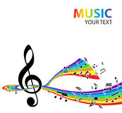 Musical background. Abstract music background with tunes Stock Photo