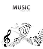 Musical background. Abstract music background with tunes Stock Images