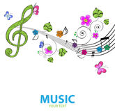 Musical background. Abstract music background with tunes Royalty Free Stock Photography