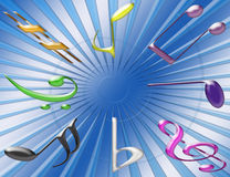 Musical Background. One direction Stock Illustration