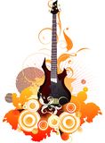 Musical background. With illustration drawing Vector Illustration