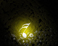 Musical background. Yellow lighting with musical background Royalty Free Stock Photos