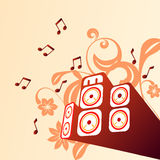 Musical background. With illustration drawing Stock Illustration