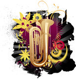 Musical background. With illustration drawing Royalty Free Illustration
