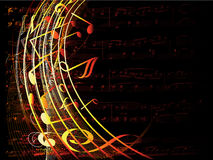 Musical background Royalty Free Stock Image
