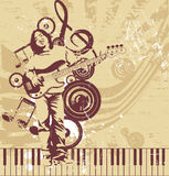 Musical background. Illustration drawing of musical background Stock Illustration