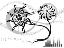Musical background. Abstract musical background. Vector illustration Stock Photo