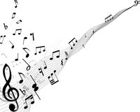 Musical background. Musical notes background with lines. Vector illustration vector illustration