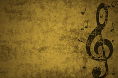 Musical background. Musical notes on a grunge background Stock Images