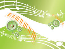 Musical background. Musical abstract background vector illustration Royalty Free Stock Photo
