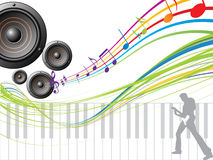 Musical background Royalty Free Stock Photography