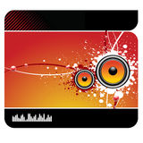 Musical background. Modern  musical background with speakers Stock Photo