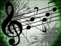 Artistic Musical background with notes Stock Images