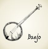 Musical background. Banjo Royalty Free Stock Photos