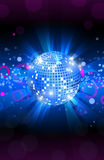 Musical background blue, dance party flyer, vector Royalty Free Stock Photos