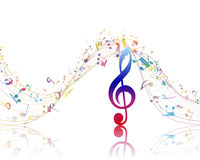 Musical background with clef Stock Photos