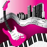 Musical Background Design Stock Image