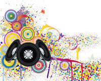 Musical background with grunge elements Royalty Free Stock Images