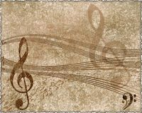 Musical background in grunge style Royalty Free Stock Photo