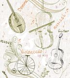 Musical background Stock Images