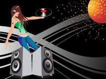 Musical background illustration Royalty Free Stock Image