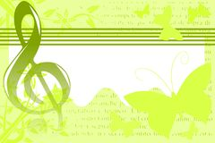 Musical background illustration in green and white Royalty Free Stock Photography