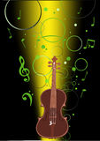Musical background illustration with violin Royalty Free Stock Images