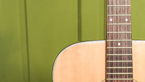 Musical background image of acoustic guitar Royalty Free Stock Images