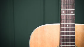Musical background image of acoustic guitar Stock Image