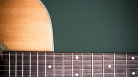 Musical background image of acoustic guitar Royalty Free Stock Photo