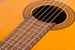 Musical background image of classical guitar Royalty Free Stock Photos
