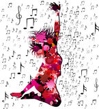 Musical background royalty free illustration