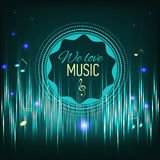 Musical background with key. notes and equalizer Royalty Free Stock Photo