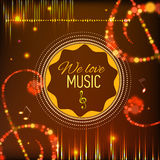 Musical background with key. notes and equalizer Royalty Free Stock Photography