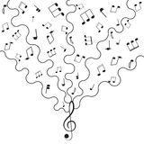 Musical background music Stock Image