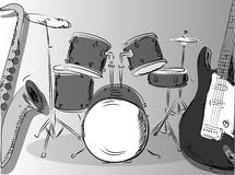Musical background, music band vector Stock Photo