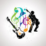 Musical background for music event design Stock Image