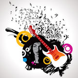 Musical background for music event design Stock Photos