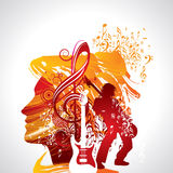 Musical background for music event design Stock Images