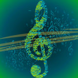 Musical background for music event design Royalty Free Stock Photography