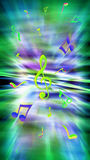 Musical background. Noisy party. Disco club. Bright musical background. Party, Sound, Disco, Night club, Night party. Shining background with notes Stock Photography